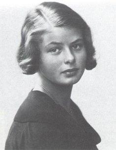 c. 1929 - 14-year-old Ingrid Bergman - a natural beauty.