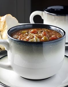 Stuffed Pepper Soup- perfect comfort food for a chilly day!