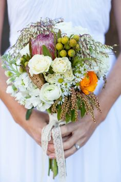 awesome unique bouquet // photo by Love Janet Photography