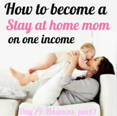 @Shannon Bellanca Bellanca Elkins I thought you'd enjoy this pin. I know how much you'd like to be a stay at home mom one day! :) Now you can plan ahead! hehe