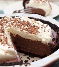 cream pies, sweet, chocolates, chocol cream, food, yummi, recip, chocol pie, dessert