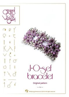 Bracelet tutorial / pattern JOsef bracelet with by beadsbyvezsuzsi, $13.00
