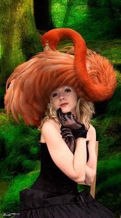 Orange Flamingo hat