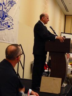 Listening to Rep. Louie Gohmert at the Eagle Forum dinner. 9-13-13