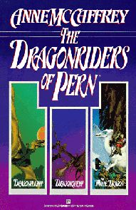 Any books by Anne McCaffrey are great, but the Dragonriders series is the best!