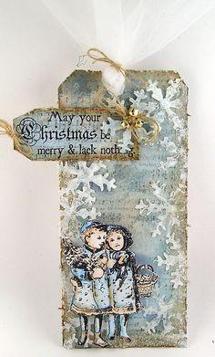 geinspireerd door Tim Holtz 12 tags of Christmas 2011 - tag 4