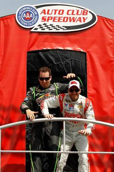 3-23-14 at Fontana California with Kyle Busch at driver introductions