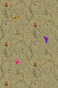 Timorous Beasties Fabric - Butterflies