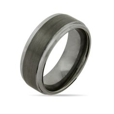 This 8mm Raised Center Engravable Tungsten Carbide Ring is every bit masculine and classy #giftsformen #tungsten #mensrings