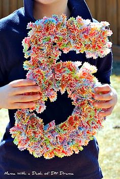 Number with cupcake liners.  Cute idea!