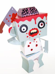 Free Zombie Paper Toy printable with removable body parts