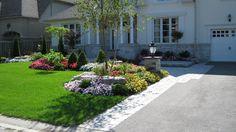 driveway garden entrance ideas | ... entrance unionville interlocking entrance markham driveway detail