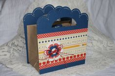 Matching gift bag for card set.  Great teacher gift.  October Afternoon Schoolhouse papers.