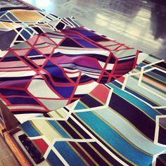 fabric designed by Sarah Morris for Maharam