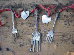 old silverware garland