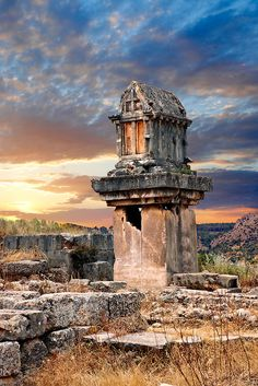 The Lycian Harpy Tomb (Greek archaic style, 480-470 B.C.), Xanthos, Turkey ~ UNESCO World Heritage Site.  Photo: Paul Williams