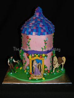 Simple Tangled tower cake. This was a last minute order, so I didn't really have time to do too much with it. Based on cake sent to me ...