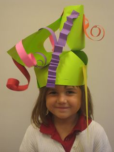 crazy hats- to do at the end of year with K and left over scraps...fun project