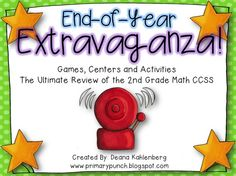 A HUGE pack of math games, centers and activities to review the 2nd grade CCSS!!