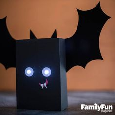 Box Bat: With eerie glowing eyes and goofy grin, this nocturnal critter will happily perch on a mantel or a protected front porch.