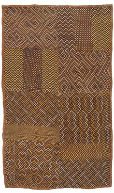 Africa | Raffia cloth from the Shoowa (Kuba) people of DR Congo | 20th century