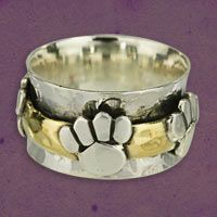 Merry Band of Paws Sterling Spinning Ring at The Animal Rescue Site