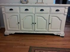 Distressed Buffet Credenza Shabby Cottage Chic Storage Dining Buffet Tv console on Etsy, $465.00