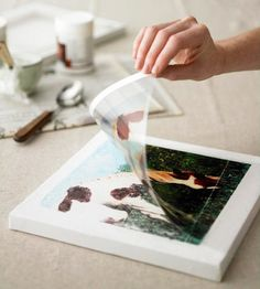 How to transfer photos onto a canvas...so cool!