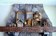 How to decorate a JUNK mantel, by Funky Junk Interiors