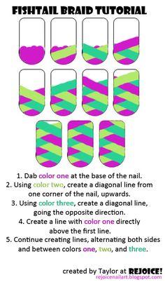 Fishtail Braid Design For Nails