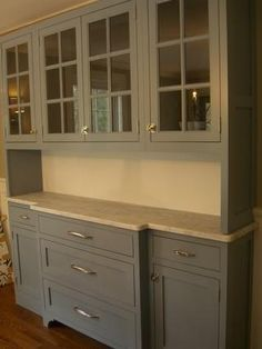 Dining Room Hutch, Slate Blue Milk Paint Photo by ErikaPix | Photobucket