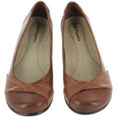 Hush Puppies Women's KANA PUMP tan slip on wedge shoes