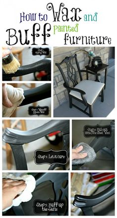 Waxing and Buffing Black Painted Furniture to a Beautiful Shine!