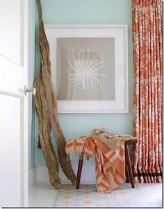 Orange compliments blue. Via restyling home