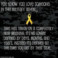 """""""You know you love someone in the military when ..."""" - MilitaryAvenue.com"""