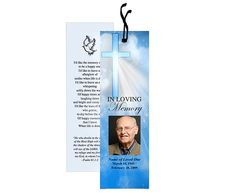 Spiritual or Christian based themed Memorial Bookmarks : Heaven Bookmark Template