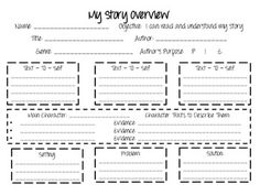 My Story Overview Free Resource