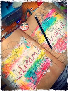 Dare to Dream art journal page by Rachelle of Art Eye Candy blog