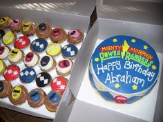 Power Rangers Cake and Cupcakes - Just BAKED Cakes and Cupcakes