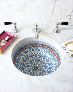 The world is your canvas. Start with that bathroom sink.