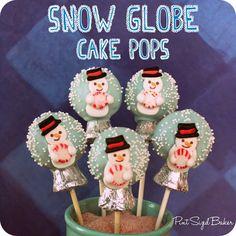 How to make Easy Snow Globe Cake Pops - Pint Sized Baker  #CakePops #easy #Christmas #Cookingwithkids