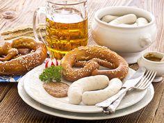 Yum - white sausage and pretzel