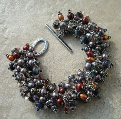 Pearl Cluster Bracelet by laughingrabbit7 on Etsy, $125.00