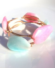 The Cotton Candy gold bauble bangle by LuELsDecor on Etsy, $12.99