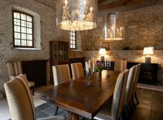 Inspiring Interiors ~ rustic dining room design