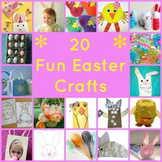 20 Fun Easter Crafts To Do With Kids - Woman of Many Roles