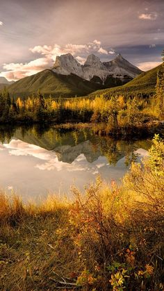 The Three Sisters are a trio of peaks near Canmore, Alberta, Canada. They are known individually as Big Sister (Faith) Middle Sister (Charity) and  Little Sister (Hope).