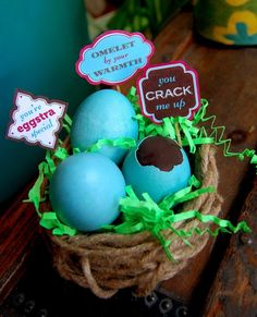 Printable Easter Egg Tags by Linda Facci
