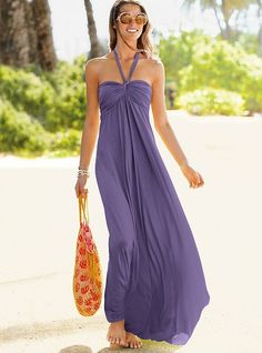Wedding sundresses for the beach | ... may consider a simple casual beach dress with a vertical pattern beach dresses, summer dresses, victoria secrets, maxi dresses, fashion, style, maxis, the dress, long dress