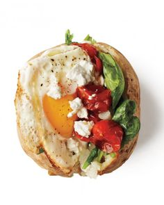 Roasted-Tomato Potato with Fried Egg